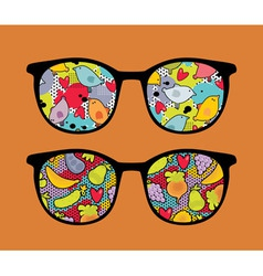 Patterned glasses vector