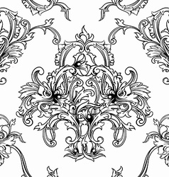 Seamless background baroque pattern vector