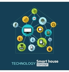 Concept technology- smart house vector