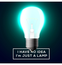 Light bulb with innovation idea concept vector