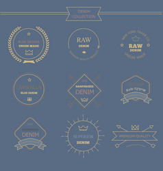 Vintage labels denim typography t-shirt graphics vector