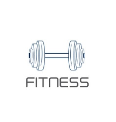 Barbell design template vector
