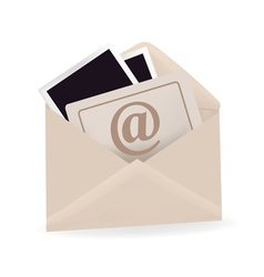 Open envelope with email sign vector