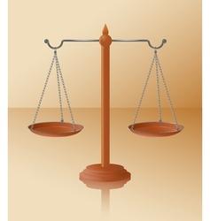 Balance scale vector