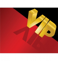Letters spelling vip vector