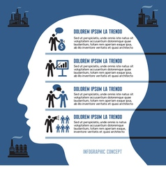 Business infographic concept with human head vector