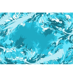 Blue abstract feathers vector