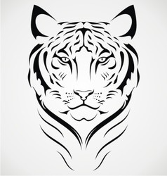 Bengal tiger tattoo design vector