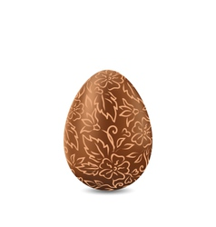 Easter chocolate egg in hand-drawn style isolated vector