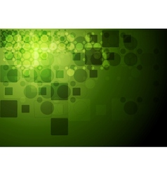Green tech geometry background vector