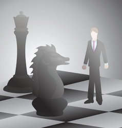 Businessman battle chess vector