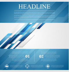 Blue shiny hi-tech flyer background vector
