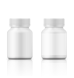 White plastic bottle for pills vector