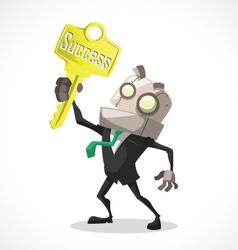 Businessman key vector