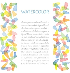 Hand painted water color card vector