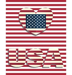 Heart love usa amerika vector