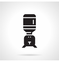 Black water cooler flat icon vector