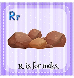 A letter r for rocks vector