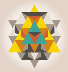 Unique geometrical design vector