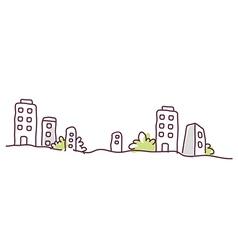 Building exterior skyline vector