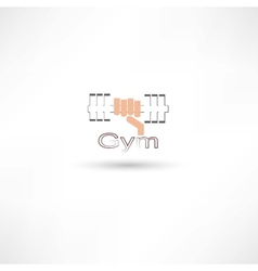 Dumbbell gym vector