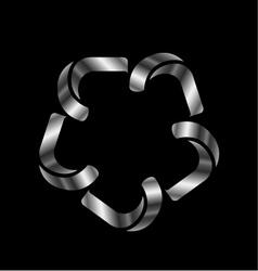 Metallic design element or logo vector