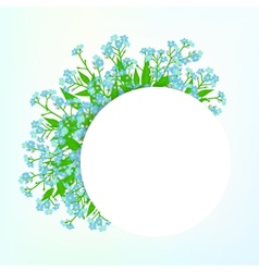 Card with small blue flowers vector