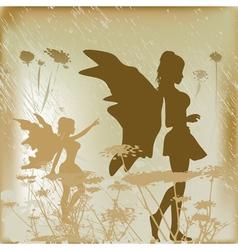 Fairy background vector