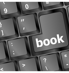 Book button on computer keyboard vector