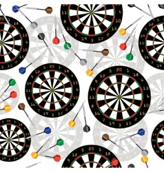 Darts target and darts seamless background vector