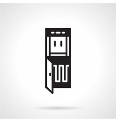 Black icon for water cooler vector