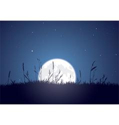 Grassy moonrise vector