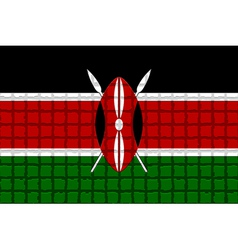 The mosaic flag of kenya vector