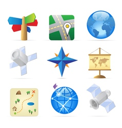 Icons for navigation vector