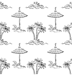 Seamless exotic pattern outline vector