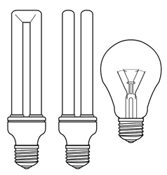 Bulb and fluorescent bulb vector