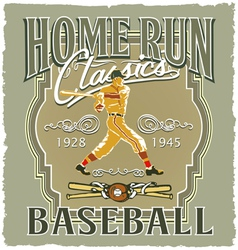 Home run baseball classic vector