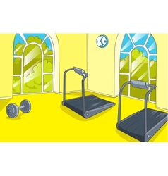 Gym room vector