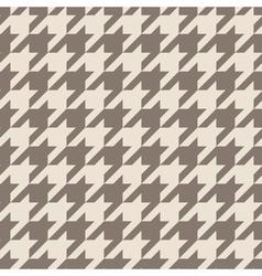 Houndstooth tile brown pattern or background vector