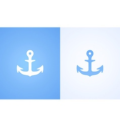 Icon with iron anchor vector
