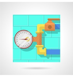 Flat color icon for manometer vector