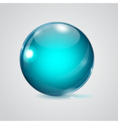 Glass sphere vector