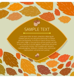 Autumn thanksgiving frame with copyspace vector
