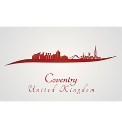 Coventry skyline in red vector