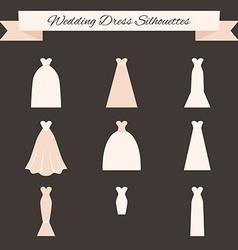 Wedding dress style vector