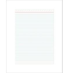 Retro notebook sheet vector