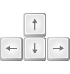 Arrows buttons keyboard vector