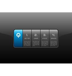 Interface blue vector