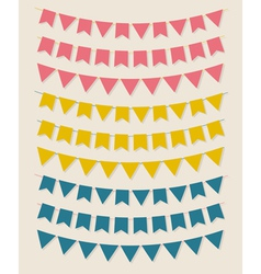 Bunting party flags vector