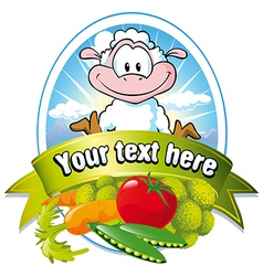 Vegetable label vector